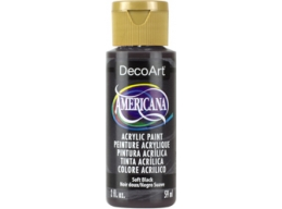 Soft Black - 2oz DecoArt Americana Acrylic Paint