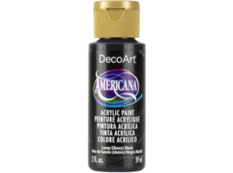 Lamp Ebony Black - 2oz DecoArt Americana Acrylic Paint