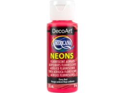 Fiery Red Neon - 2oz DecoArt Americana Acrylic Paint