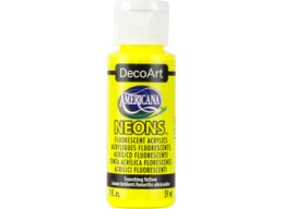 Scorching Yellow Neon - 2oz DecoArt Americana Acrylic Paint