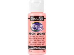 Peach Punch Neon Lights - 2oz DecoArt Americana Acrylic Paint
