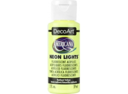 Radiant Yellow Neon Lights - 2oz DecoArt Americana Acrylic Paint