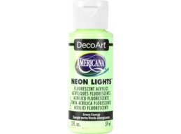 Green Energy Neon Lights - 2oz DecoArt Americana Acrylic Paint
