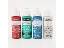 DecoArt 4 x 2oz Chalky Finish Craft Pots - Memories Set