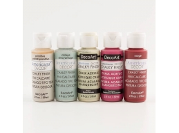 DecoArt 5 x 2oz Chalky Finish Craft Pots - Renaissance Set