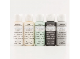 DecoArt 5 x 2oz Chalky Finish Craft Pots - Georgian Set