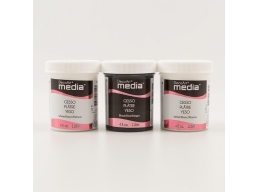 DecoArt Media DecoArt Pack of 3 Gesso - 2 x 4oz White & 1 x 4oz Black