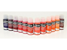 DecoArt Media Fluid Acrylics - Reds/Violets/Oranges - Set of 12