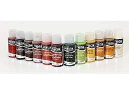 DecoArt Media Fluid Acrylics - Earth Tones - Set of 12
