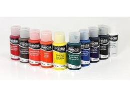 DecoArt Media Fluid Acrylics - Essentials - Set of 10