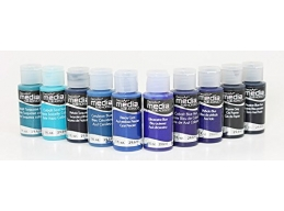 DecoArt Media Fluid Acrylics - Blues - Set of 10