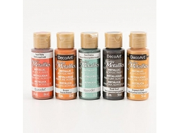 DecoArt Set of 5 x 2oz Metallic Paints Regal Set