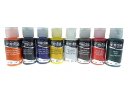 DecoArt Media Fluid Acrylics - Sampler Set