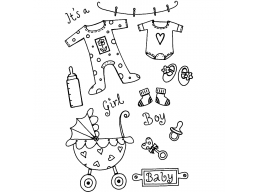 Baby Time Clear Stamp
