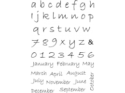 MM Alphabet/Months Clear Stamps