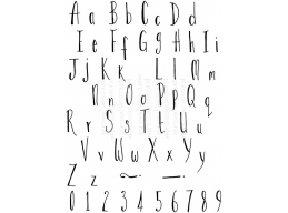 LM Skinny Alphabet - Clear Stamp
