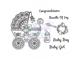 Sweet Dixie Clear Stamp Bundle of Joy A6
