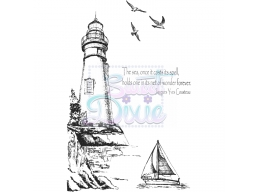 Sweet Dixie Clear Stamp Lighthouse A6