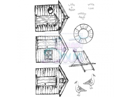 Sweet Dixie Clear Stamp Beach Huts A6