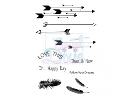 Sweet Dixie Clear Stamp Follow your dreams A6