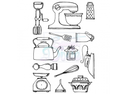 Kitchen Wares A6 Clear Stamp