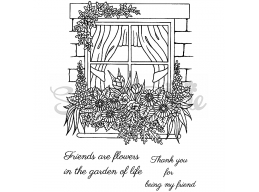 Friends and Flowers Clear Stamp