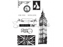 London This Way Clear Stamp