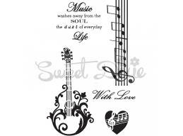 Love Music Clear Stamp