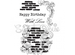 Wall Flowers Happy Birthday Clear Stamp