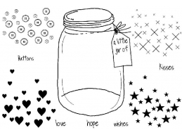 Little jar of - Clear Stamp