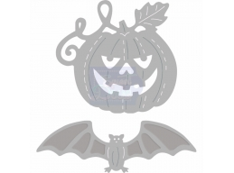 Sweet Dixie Halloween - Pumpkin and Bat