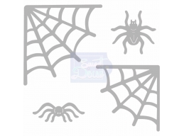 Sweet Dixie Halloween - Spiders Web Corners and Spiders