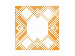 Ultimate Crafts The Ritz Collections Geometric Frame Hotfoil Stamp
