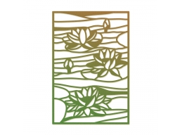 Lily Pond Stained Glass Impression Dies - Ultimate Crafts Impression Dies