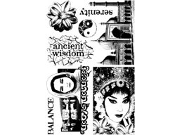 Asian Plate 4 - A6 Stamp Set, unmounted