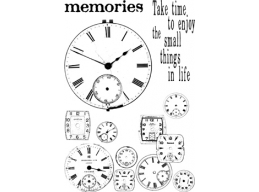 Clocks Plate 4 - A6 Stamp Set - PaperArtsy