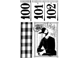Eclectic Plate 5 - A6 Stamp set, trimmed on EZ Mount