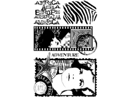 Travel Plate 3 - A6 Stamp Set, unmounted