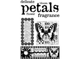 Petals Plate 6 - A6 Stamp set, trimmed on EZ Mount