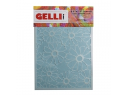 Flower Stencil - For use with 5x7 plate - Gelli Arts