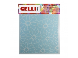 Flower Stencil - For use with 8x10 plate - Gelli Arts