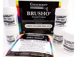 Brusho Earth Colours Pack - 5 x 15g