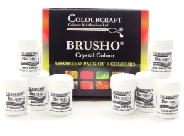 Brusho New Colours Assorted - 8 x 15g