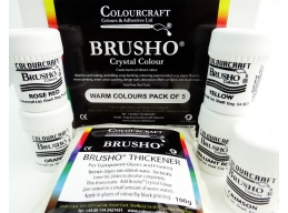 Brusho Warm Colour Pack - 5 x 15g