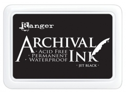 Ranger Archival Ink Pad - BS Jet Black - 90mm x 62mm