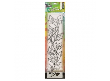 Dylusions - Stamp & Stencil Set - Leaf - Large , DYZ54764