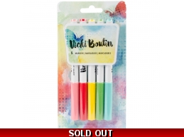 Color Markers - Vicki Boutin - Mixed Media - VB376970