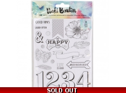 Vicki Boutin Mixed Media Watercolor 8-Page Sticker Book - Discontinued