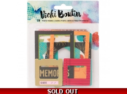 Vicki Boutin Mixed Media Cardstock Photo Frames W/Gold Foil