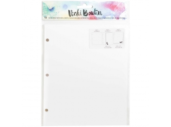 "Vicki Boutin Mixed Media Junque Journal Refill 8""X6.5"" White Paper, 3 Styles"